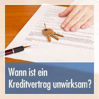 wann ist ein vertrag nichtig wann ist ein kreditvertrag unwirksam