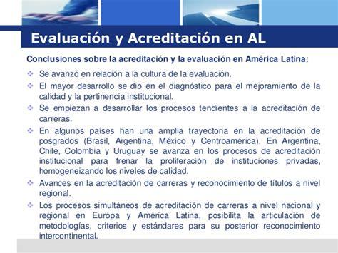 Alis Lu Avanza la evaluaci 243 n de la calidad y su acreditaci 243 n