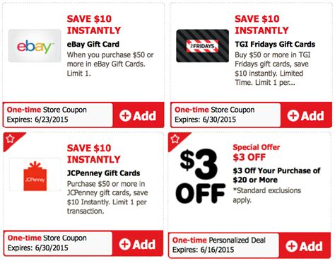 Victoria Secret Gift Cards At Safeway - safeway affiliates multiple gift card discount ecoupons ebay jcpenney tgi