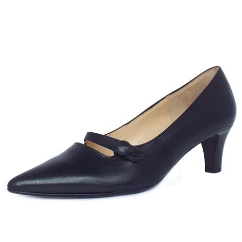 shoes for womens gabor court shoes charity s kitten heel navy