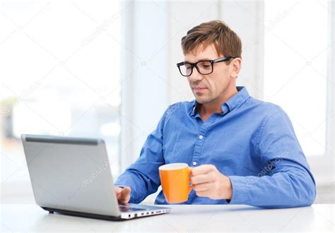 working with laptop at home stock photo 169 syda