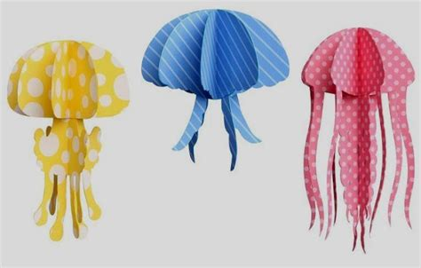 Paper Jellyfish Craft - papermau jelly fish mobile papercraft by mobile caravan