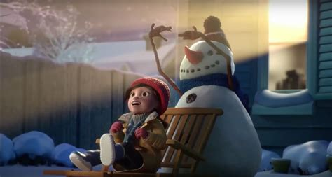 commercial woman hits snowman cineplex lily and the snowman the inspiration room
