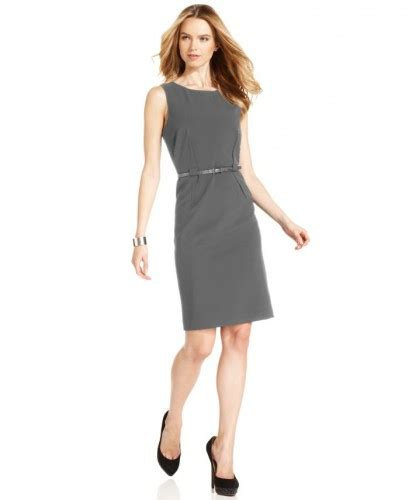 Classic Belted Sheath calvin klein dress sleeveless belted sheath for sale in