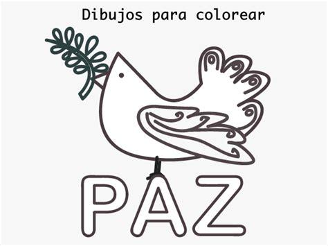 imagenes para dibujar sobre la paz dibujos d 237 a de la paz para colorear manualidades