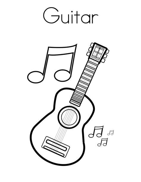 easy guitar book sketch guitarra para colorear