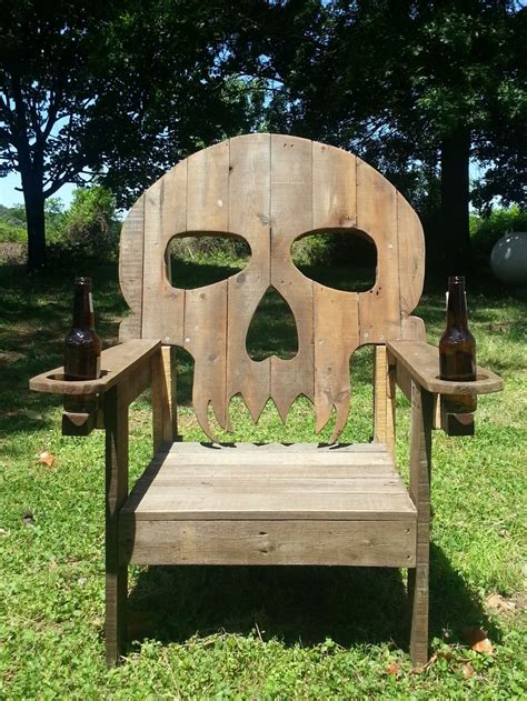 Skull Adirondack Chair Plans by Pallet Skull Chair 1001 Pallets