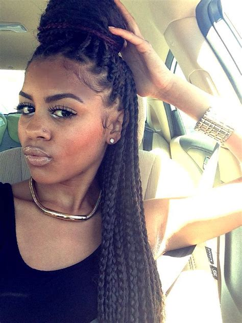 large box braids hairstyles me big box braids protective styles pinterest big