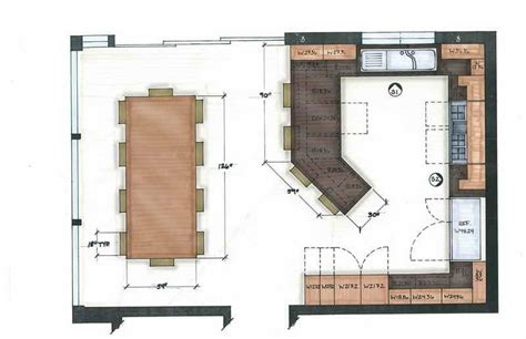 Kitchen Floor Plans With Island by Kitchen Ideal Kitchen Layouts Floor Plans Ideal Kitchen
