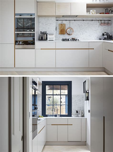 kitchen cabinets without hardware no hardware for the kitchen cabinets in this london home