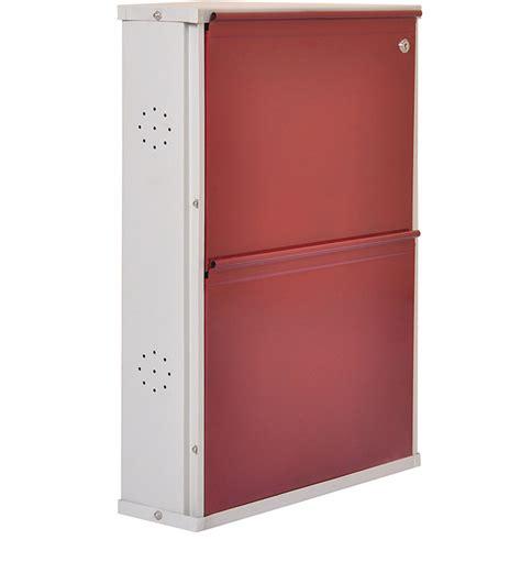 other uses for metal shoe rack two door metal shoe rack maroon by furniturekraft by