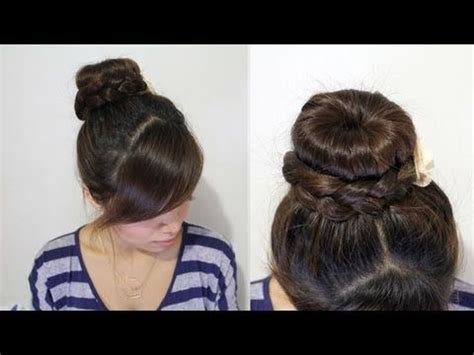 hairstyles for long hair video playlist best 25 braided sock buns ideas on pinterest sock bun