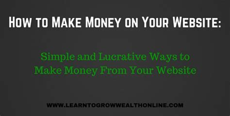 Spend Money To Make Money Online - how to make money on your website simple solutions for