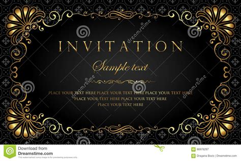 black invitation card templates invitation card design luxury black and gold vintage