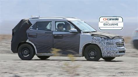 Hyundai Upcoming Suv 2020 by New Hyundai Suv Spied On Test Rival To Maruti Brezza