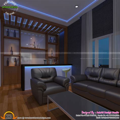 home theater bar area bedroom and room kerala design