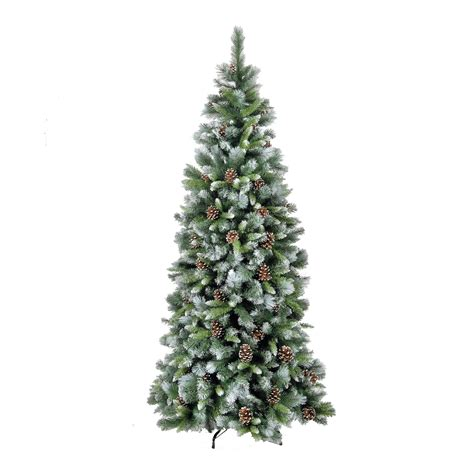 xmas trees frosted pull up 5ft frosted glacier artificial tree ebay