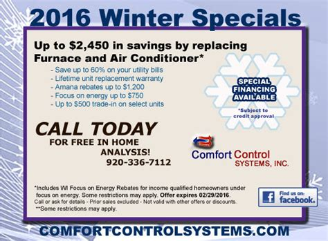 comfort control green bay amana gas furnace sales and installation in green bay wi