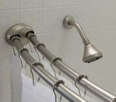 smart rod double curved tension shower curtain rod 1000 images about bathroom accessories on pinterest
