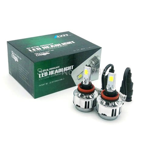 h8 led fog light aliexpress com buy 1 pair 66w 6000lm h8 h9 h11 cob car