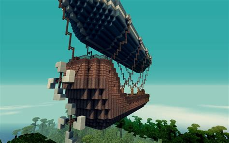 minecraft flying boat command zeppelin flying ship minecraft project