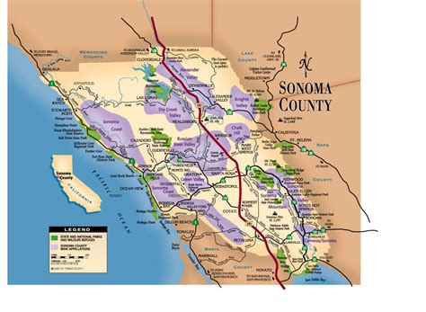 california map sonoma sonoma county map my