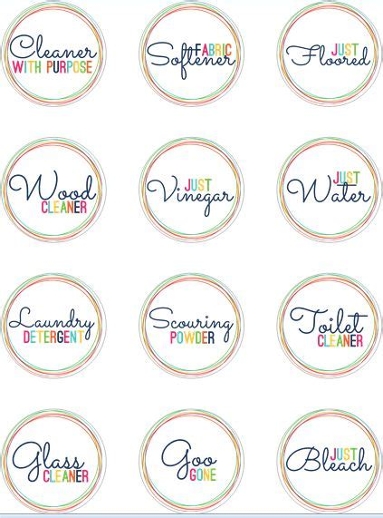 clear printable label sheets free printable labels for homemade cleaners print on