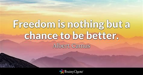 Freedom Is freedom is nothing but a chance to be better albert