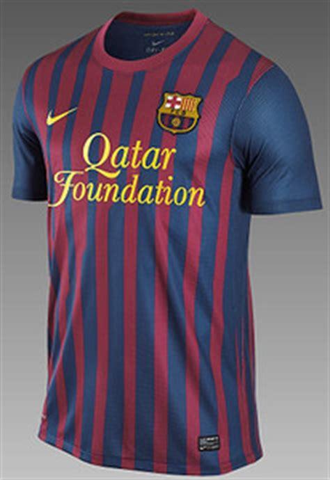 new barcelona kit 11 12 home qatar foundation | football