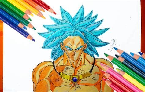 imagenes de goku legendario dibujando a broly legendario ssj dios azul how to draw