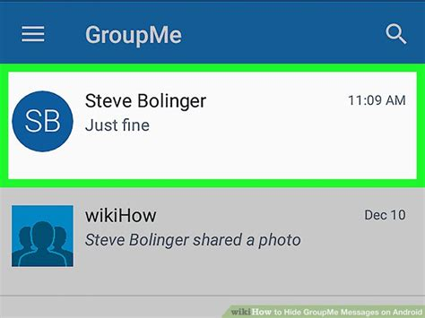 groupme app android how to hide groupme messages on android 4 steps with pictures