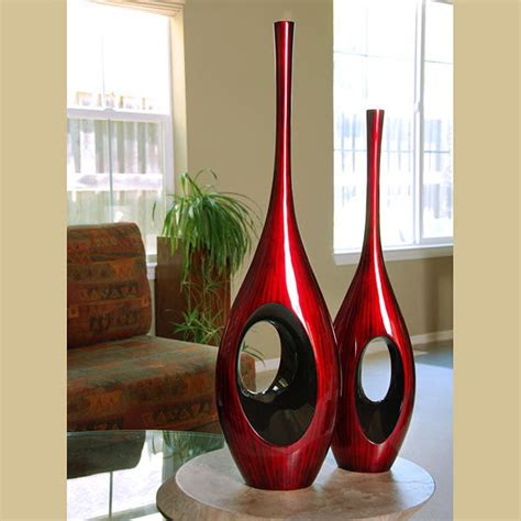 Floor And Decor Website 34 5 Inch Tall Red Black Hole Vase Gotofurniture