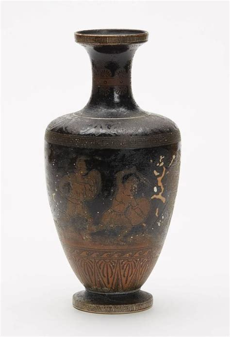 martin brothers pottery vase with warriors 1892