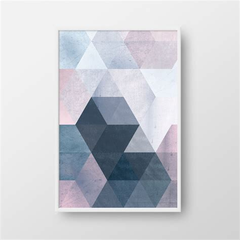Modern Wall Posters by Printable Geometric Poster Scandinavian Print Nordic