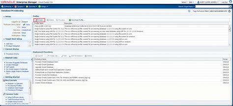 make database overview of database provisioning