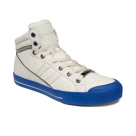 light grey sneakers guess christian hitop sneakers in white for light