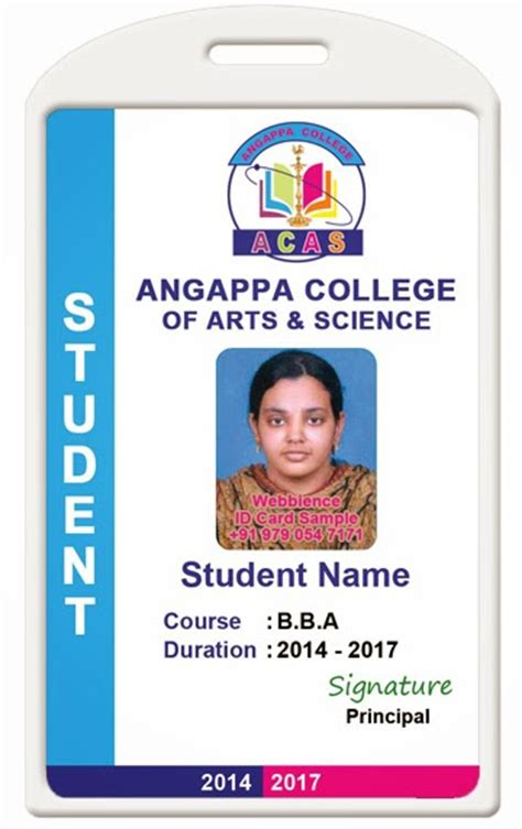 college student card template id card coimbatore ph 97905 47171 college id card