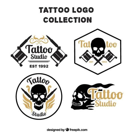download free tattoo logo vector pack of skull tattoos logos vector free download
