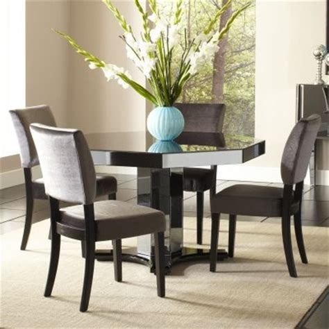 octagon dining room table standard furniture parisian 5 piece octagon mirrored