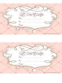 Free Printable Gift Certificates Template Free Gift Certificate Template Customizable