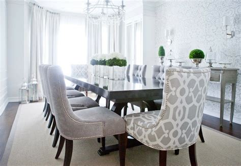 Grey Dining Room Furniture Gray Velvet Dining Chairs Transitional Dining Room Decor