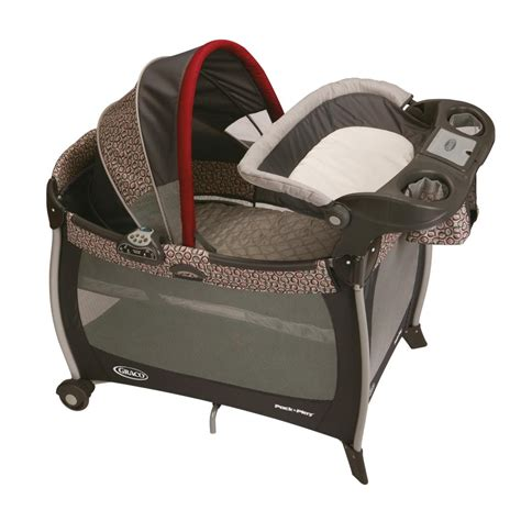 graco bassinet and changing table amazon com graco pack n play silhouette playard with