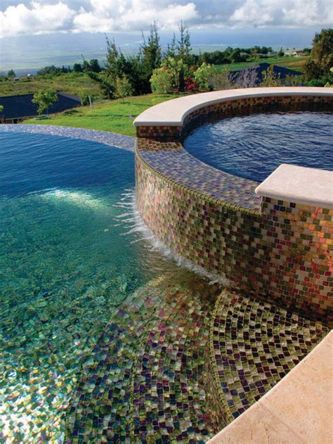 glass tile swimming pools houzz