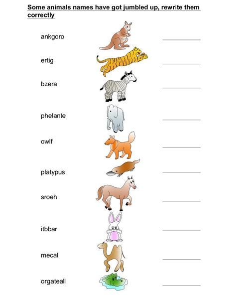videos for kids 1 animals worksheets for kids part 1 worksheet mogenk
