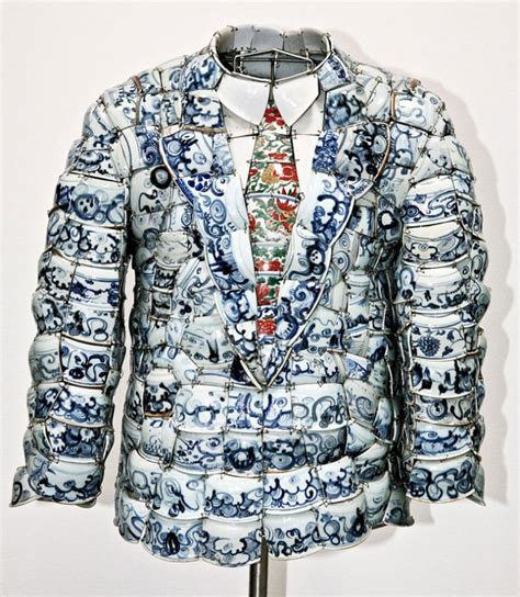 Qing Army Navy Lo Jaket Qing Army Lacoste Navy made in china porcelain costumes by li xiaofeng designmixer