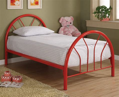 twin sized bed twin size bed in red kids beds