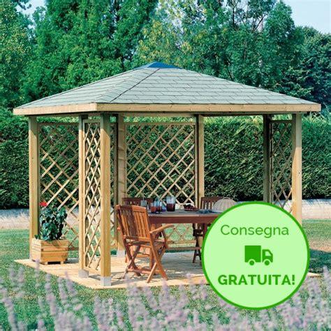 gazebi in legno fai da te gazebo cherry cm 300 x 300 tetto in legno onlywood