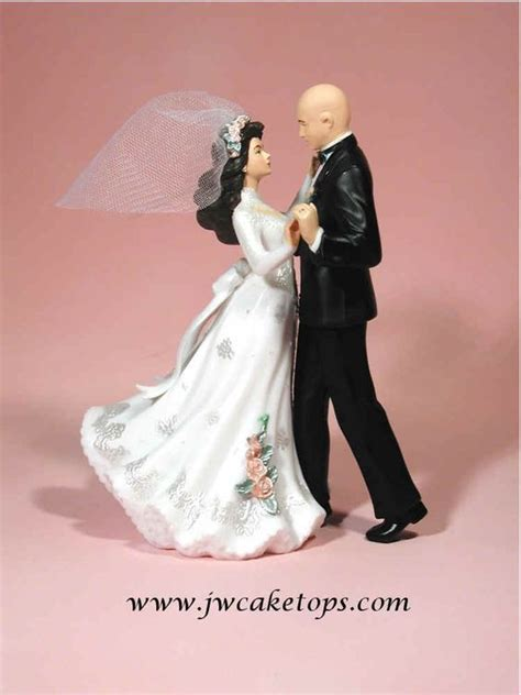 wedding cake exles wedding cake topper with bald groom wedding cake toppers