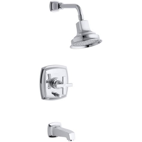 Margaux Faucet by Kohler Margaux Bath And Shower Faucet Trim With Cross Handle In Polished Chrome Valve Not