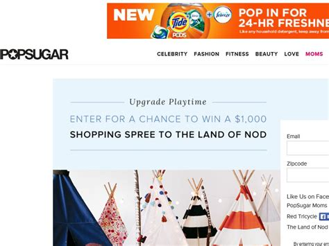 Sugarland Sweepstakes - popsugar land of nod sweepstakes sweepstakes fanatics